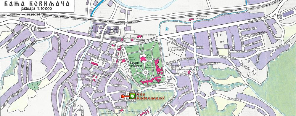 banja koviljaca mapa Vila Radovanović Banja Koviljača banja koviljaca mapa